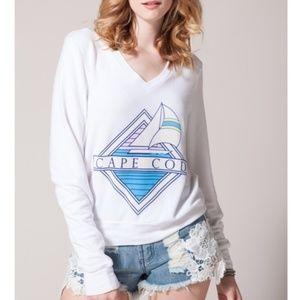 White Wildfox Cape Cod Sweater